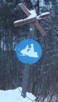 Bijzonder bord in Noord-Karelië, Finland