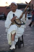 Muzikant op Djemaa el Fna Marrakech