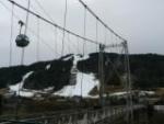 Kabelbaan en brug in morzine