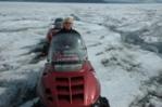 Skiscooter op gletsjer in IJsland