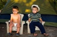 Kinderen voor een tent