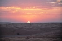 Zonsondergang woestijn