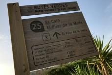 Routebord 25 van de Rutas Verdes