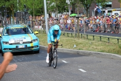 Lars Boom in de proloog van de Tour 2015 in Utrecht
