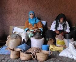 Aranolieproducerende vrouwen in Marokko