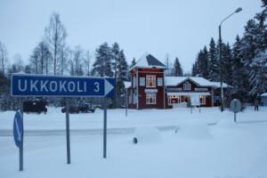 Dorp in Noord-Karelië, Finland