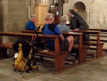 Dienst voor pelgrims in Le Puy