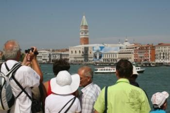 Toeristen bij Venetië ©puuropreis.nl