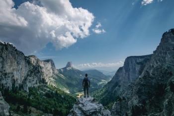 Blik op de Mont Aiguille