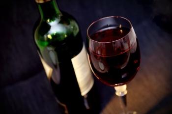 Wijn en wijnglas