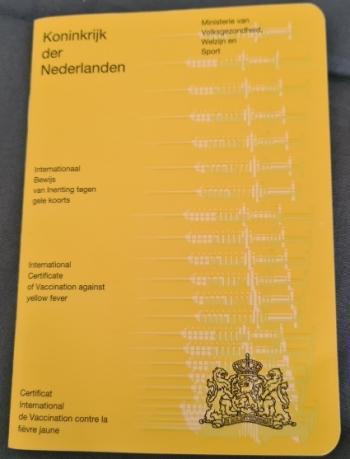 Gele boekje als vaccinatiebewijs