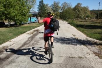 Mountainbiker in Bulgarije