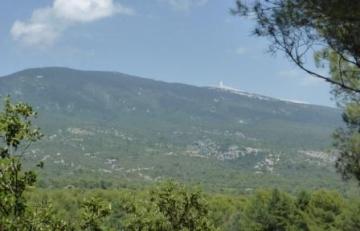 Zicht op de Mont Ventoux