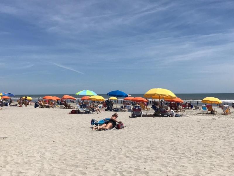 Mensen op het strand