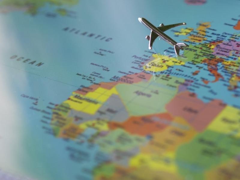 Garantie reisvouchers Wereldkaart