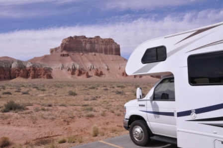 Camper in Arches NP