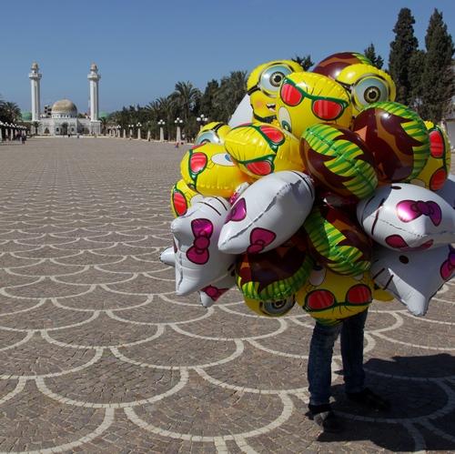 Verkoper van ballonnen in Monastir