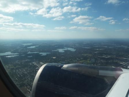 Lucht vanuit vliegtuig