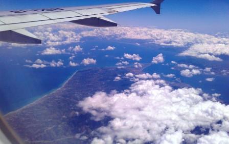 Puuropreis: uitzicht vanuit vliegtuig